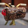 Leopard handlebar bag