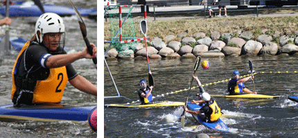 Canoe-polo-match