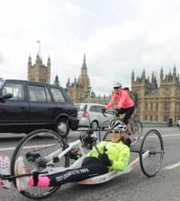 Paraplegic fundraiser Claire Lomas completes 640km hand bike challenge