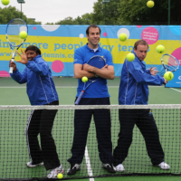 Denise Lewis, Greg Rusedski and Tim Lovejoy launch allplay