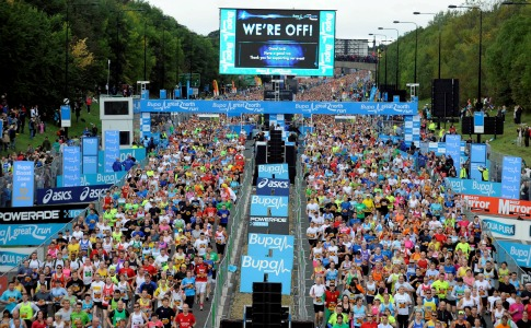 Great north run celebrity times in marathons