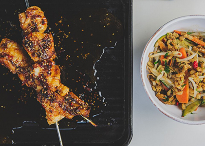 Honey,-soy-and-sesame-monkfish-kebabs-with-Pearl-barley-asian-veg-salad-square