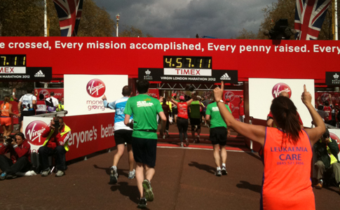Virgin London Marathon finish