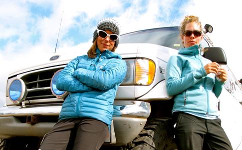 Mountain girl blogger Sarah Nicholson with Sarah Hopkins
