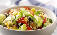 Recipe: Leek, feta and pomegranate couscous