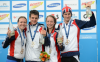 The GE Great British Mixed Triathlon team