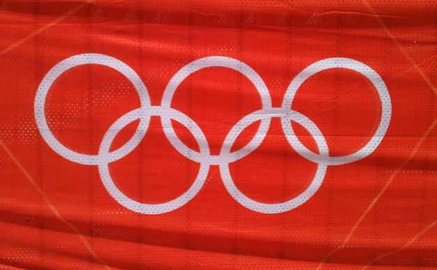 Olympic rings red