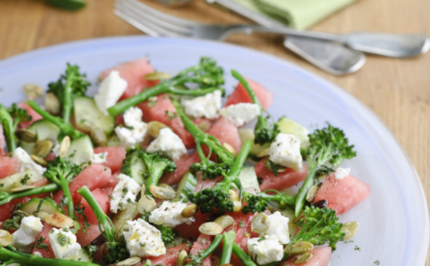 Recipe: Tenderstem, watermelon and feta salad