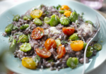 Recipe: Rioja risotto with broad beans, cherry tomatoes and gorgonzola