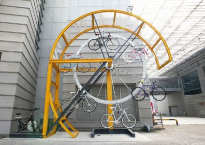 Manifesto Architecture's Wall Climbing Bicycle Rack: Seoul 2010 Cycle Design Competition