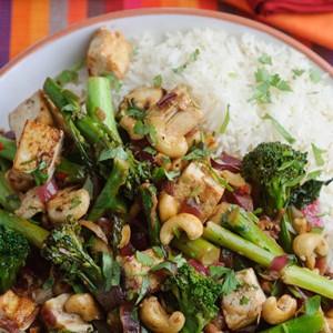 Recipe: Levi Roots' Tenderstem Broccoli, cashew and tofu stir fry