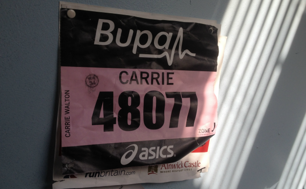 Carrie on running: I did it!