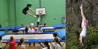 Trampolining+images