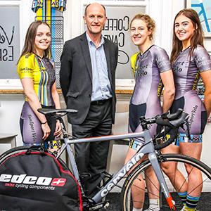 Chris-Bishop,-managing-partner-of-Slater-Heelis,-with-Sun-Sport-Velo-women's-cycle-team